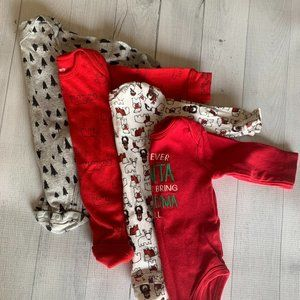 Baby Unisex Christmas Holiday Body Suits